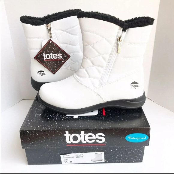 TOTES Babbie Winter Waterproof Zipup Lined Boots